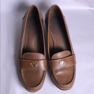 Tory Burch precious brown leather loafers 8 1/2 M